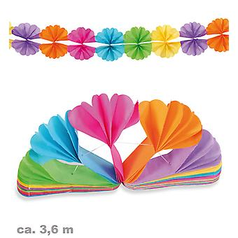 Garland 3, 6m colorful fan party birthday
