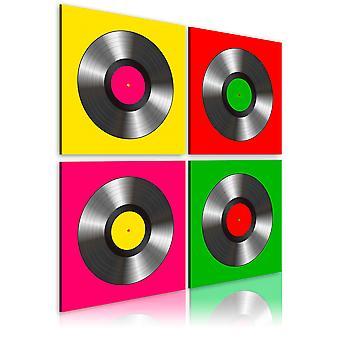 Lærred Udskriv - vinyler: Pop art