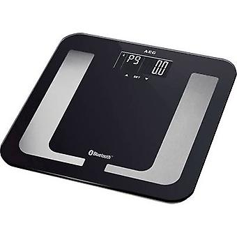 Smart bathroom scales AEG PW5653 BT Weight range=150 kg Black