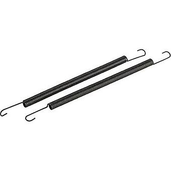 1:8 manifold kilder (lang) svart Reely kompatibel med: 3,46-6.23cc nitro søkemotorer 1 par