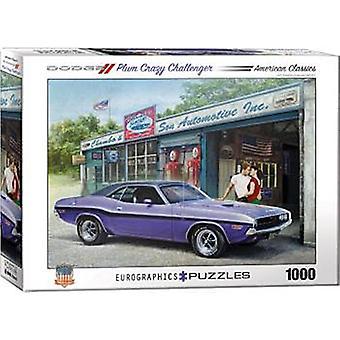 Dodge ciruela Crazy Challenger 1000 Piece Jigsaw Puzzle 680 Mm X 490 Mm