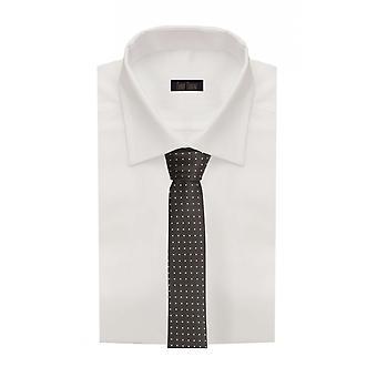 Tie tie tie tie narrow 6cm black/white spotted Fabio Farini