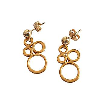 gold-plated 925 Silver earrings Silver earrings gold plated circles