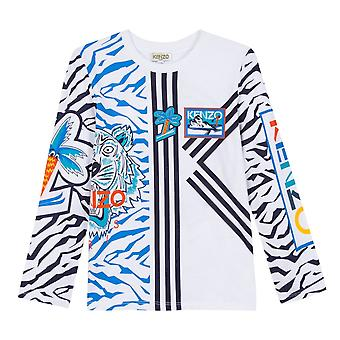 Kenzo Juniors Eliorou Frozen Print T-Shirt (White)