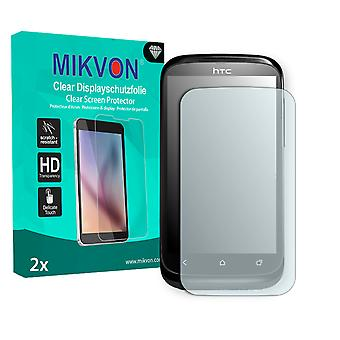 HTC T328e Screen Protector - Mikvon Clear (Retail Package with accessories) (intentionally smaller than the display due to its curved surface)