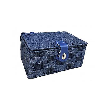 Small Twisted Blue Paper Picnic Basket