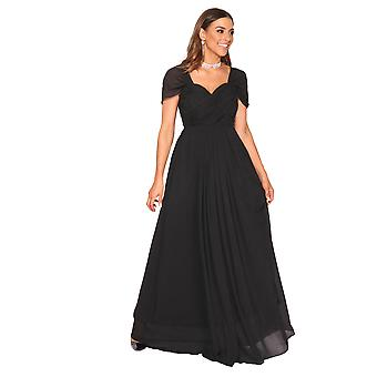 KRISP  Ladies Chiffon Lace Bridal Bridesmaid Summer Wedding Long Maxi Dress Gown 8-20
