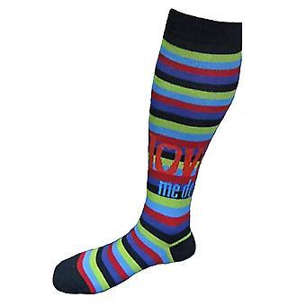 Les Beatles Love Me do rayures officiel Womens High Knee Socks (UK taille 4-7)