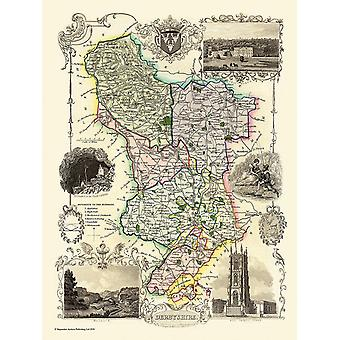 Old Map of Derbyshire 1836 by Thomas Moule 1000 Piece Jigsaw Puzzle (jhg)