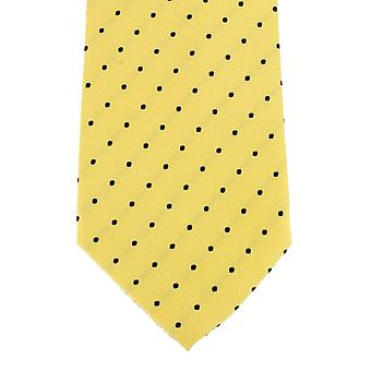 Knightsbridge Neckwear Spotted Silk Tie - Yellow/Black