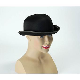 Bowler Hat. Black Satin Finish.
