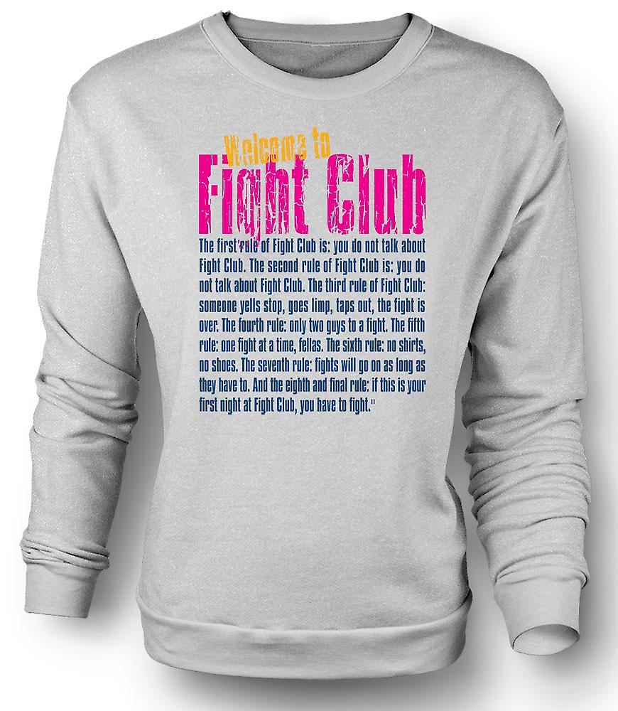Felpa Mens Welcome to Fight Club - divertente citazione