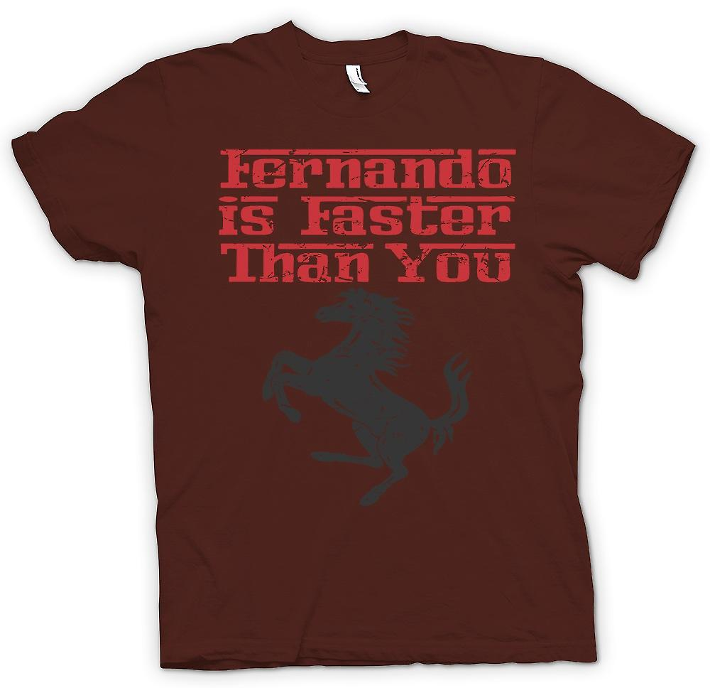 Heren T-shirt - Ferrari - Fernando Is sneller dan u