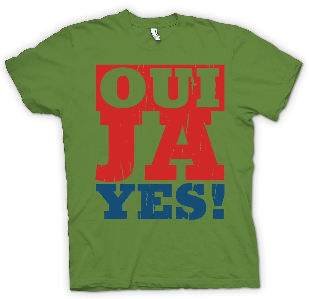 Mens t-skjorte - Oui - Ya - Ja - Funny språk