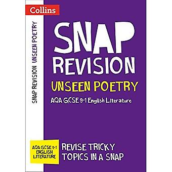 Unseen Poetry: AQA GCSE 9-1 English Literature (Collins Snap Revision) (Collins Snap Revision)