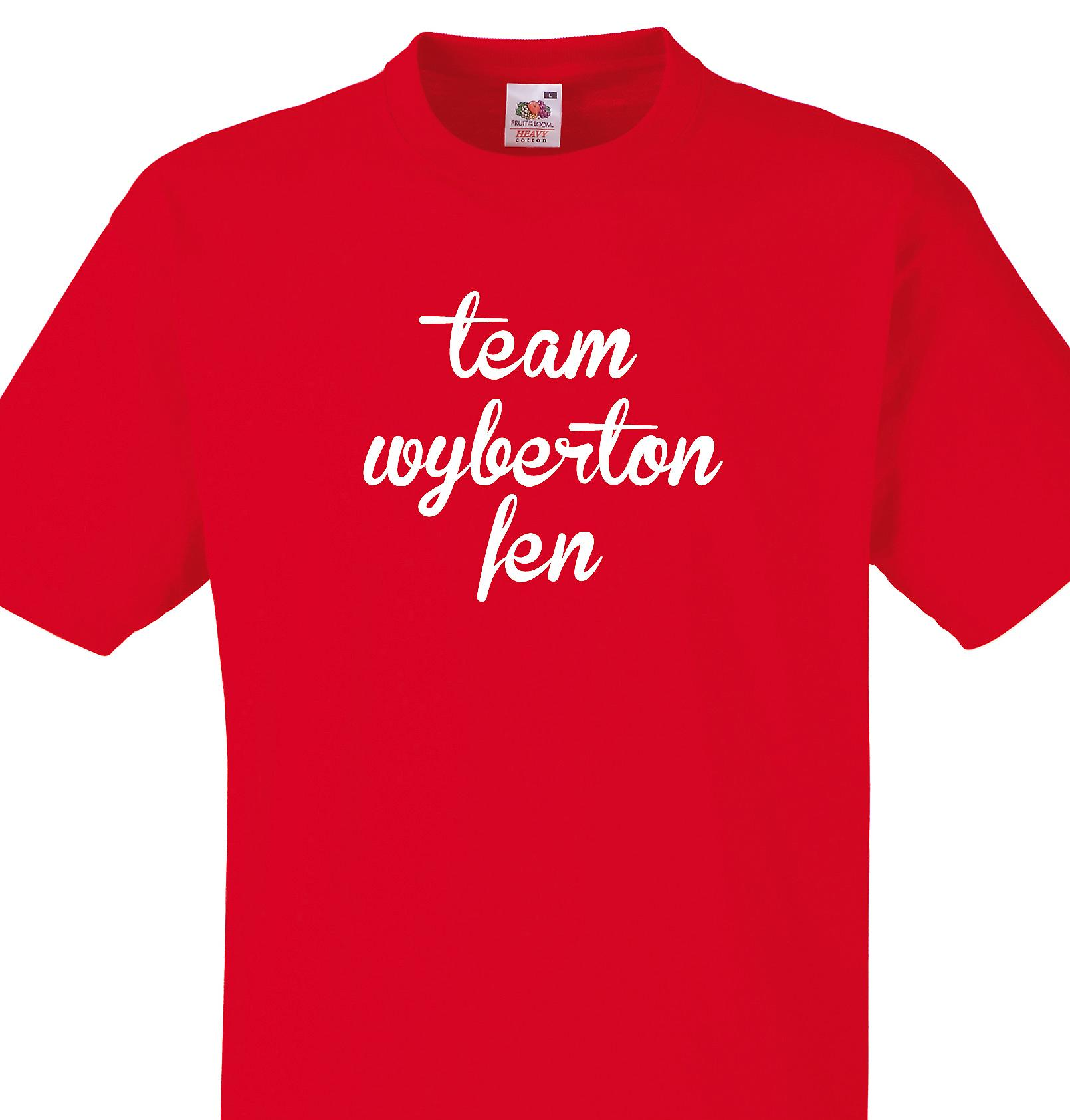Team Wyberton fen Red T shirt