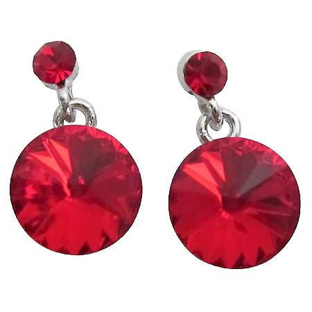 Passion Lite Siam Crystal Earrings Valentine Surprise Gift
