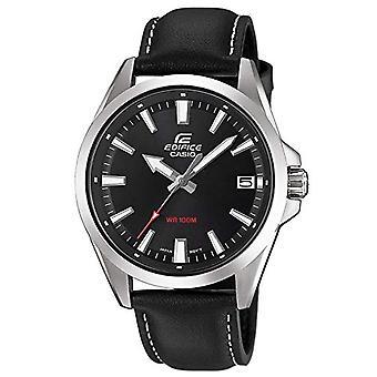 Casio Analog quartz men's watch with leather EFV-100 l-1AVUEF