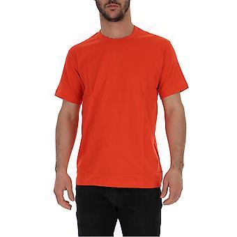 Comme Des Garçons Red Cotton T-shirt