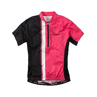 Madison Pink Glo-Black 2016 Tour Womens Short Sleeved Cycling Jersey