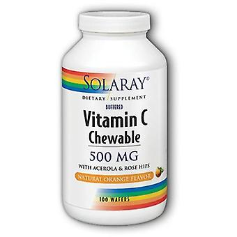 Solaray Vitamin C-500 Orange Flavor 100 Chewable Tablets