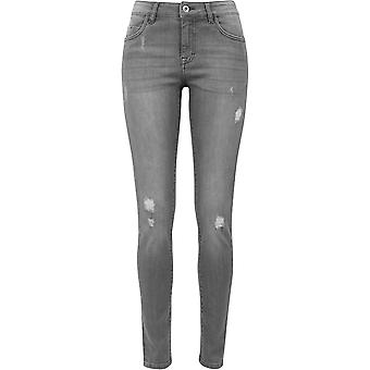 Urban Classics kvinders jeans rippet denim