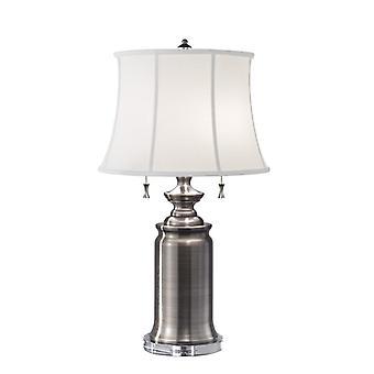 Stateroom 2lt Table Lamp Antique Nickel