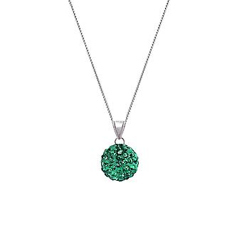 Evige samling Tarantella smaragd grøn Diamante sølv Tone vedhæng halskæde