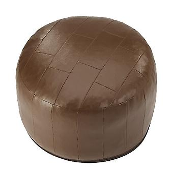 Seat cushion seat stool stool Ottoman faux leather patchwork Brown