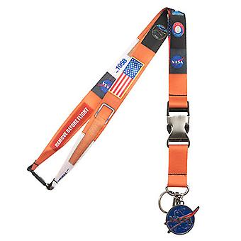 NASA Metall Charme Orange Lanyard