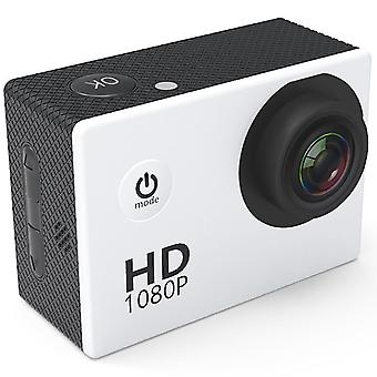 F23 outdoor action camera - 2.0 screen, hd wide angle, waterproof sports camera, dv video camcorder - white