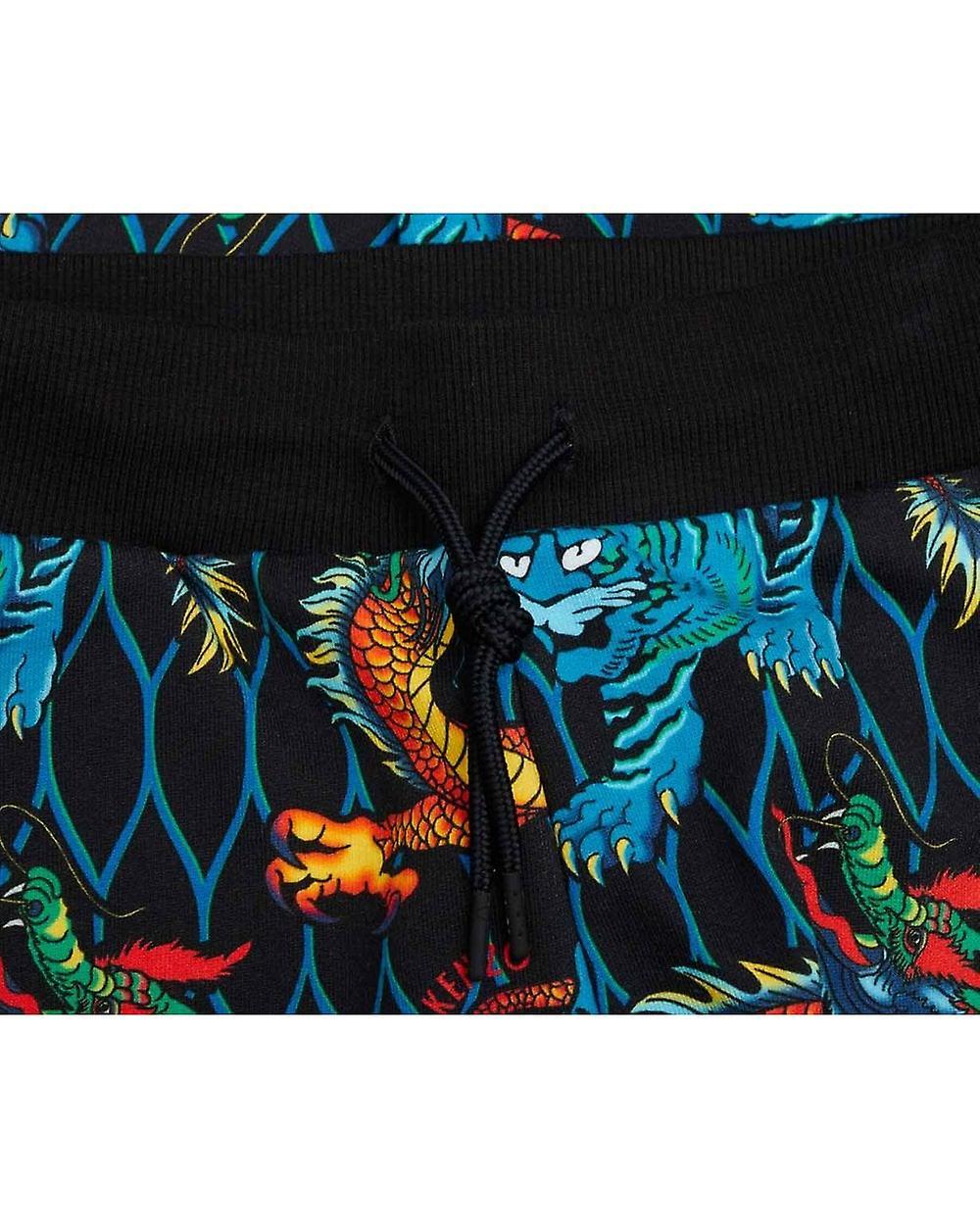 Kenzo Kids Dragon Printed Jogging Bottoms