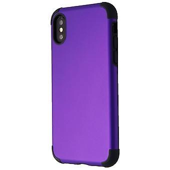 Verizon Rubberized Slim Case pour iPhone XS/X - Purple/Black
