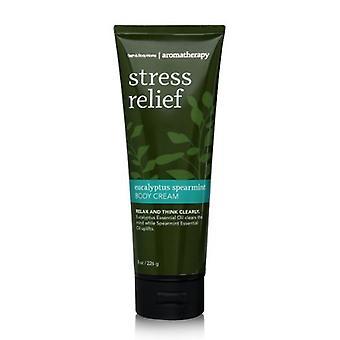 Bath & Body Works Stress Relief Eucalyptus Spearmint Body Cream 8 oz / 226 g