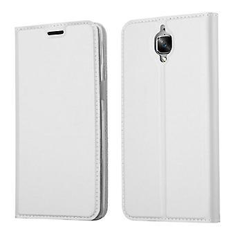 Cadorabo Hülle für OnePlus 3 / 3T Case Cover - Handyhülle mit Magnetverschluss, Standfunktion und Kartenfach – Case Cover Schutzhülle Etui Tasche Book Klapp Style