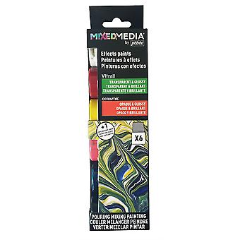 Pebeo MIXED MEDIA Vitrail & Ceramic Discovery Set 6 x 20ml
