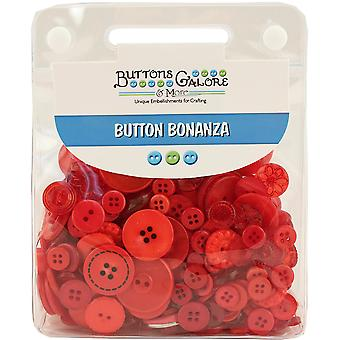 Button Bonanza .5lb Assorted Buttons-Fire Engine Red BB-31