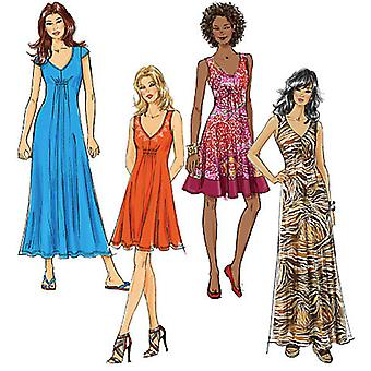Misses' Dresses In 3 Lengths  6  8  10  12  14 Pattern M6074  A50