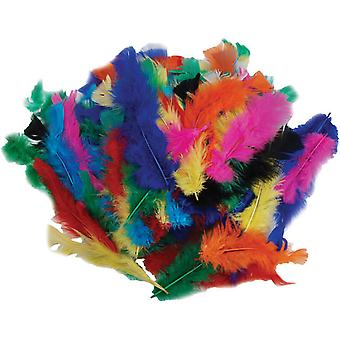 Fluffy Marabou Feathers 34 Grams Assorted Colors Md38034