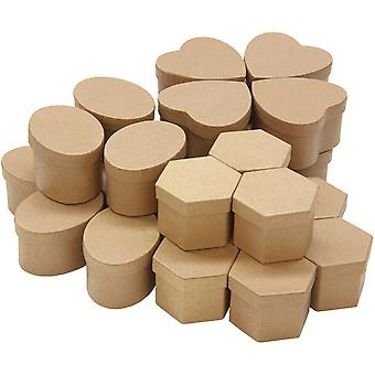 Paper Mache Boxes Classpack 24Pc Assortment 8 Each Of 3 Styles 6449