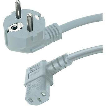 C13/C14 appliances Cable [ PG plug - IEC C13 socket ] Grey 5 m HAWA 1008241