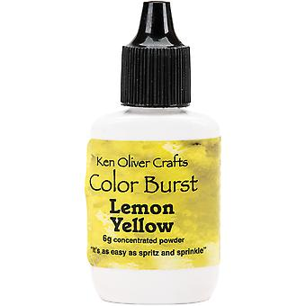 Ken Oliver Color Burst Powder 6gm-Lemon Yellow KNCPW-6073