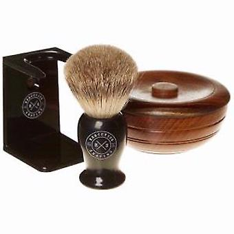 Executive Shaving Company Ebony Brush And Soap Bowl Shaving Set