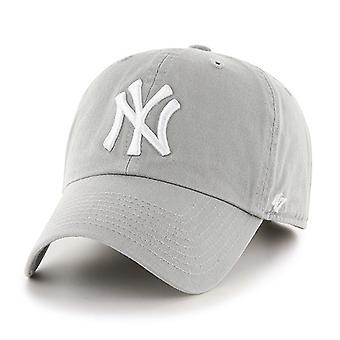 47 Brand MLB New York Yankees Clean Up Cap - Grey
