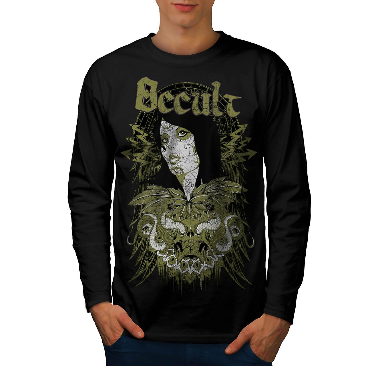Occult Cult Lady Girl Pout Model Men Black Long Sleeve T-shirt | Wellcoda