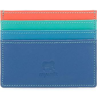 Mywalit Aqua Leather Card Holder
