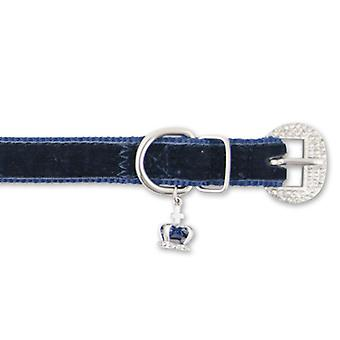 Small Bite Crown Jewel Collar Sapphire Extra Small 18-22cm