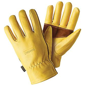 Briers Premium Golden Leather Glove with Palm Protection - Medium