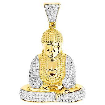 Premium Bling - plata 925 oro colgante de Buda