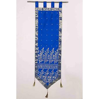 Blue - Handmade Wall hanging Wall decor Tapestry  with Tassels